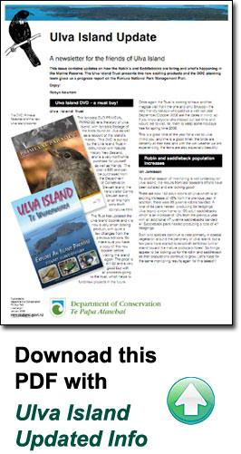 Ulva Island Update PDF